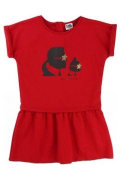 Robe enfant Karl Lagerfeld Robe manches courtes rouge(115465906)