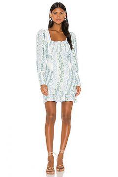 Обегающее сверху и плиссированное от пояса платье gracie - For Love & Lemons(115064888)