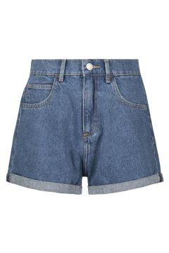 High Waist Denim Mom Shorts(111016585)