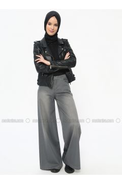 Gray - Cotton - Pants - Neways(110314252)