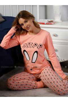 Salmon - Crew neck - Multi - Pyjama - Elitol Pijama(110316477)