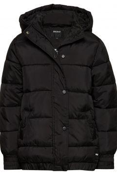Puffer Jacket Gefütterte Jacke Schwarz DKNY KIDS(94023193)