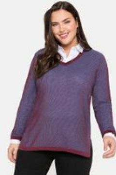 Sheego Pullover Sheego weinrot(111502620)