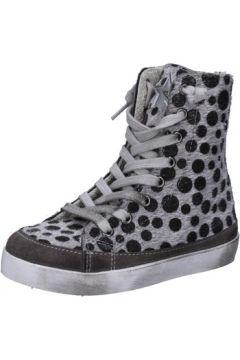 Chaussures enfant 2 Stars sneakers gris cheveux veau daim AD889(115393791)