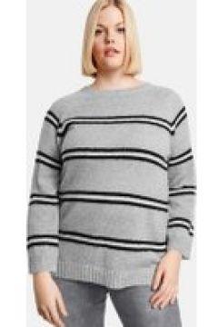 Sweter w paski Szary 50/XL(115894490)