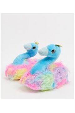 Loungeable - Pantofole a cigno arcobaleno-Multicolore(124109776)