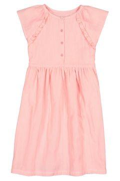 Vestido de manga corta de gasa de algodón, 3-12 años(108523107)