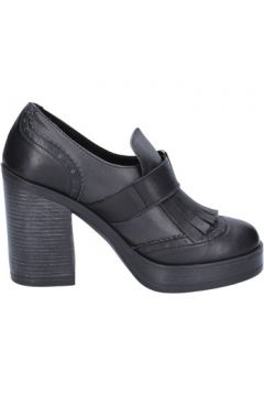 Chaussures escarpins Bollicine mocassins gris cuir noir BX721(115442628)