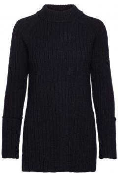 Wool Chunky Rib Long Sweater Strickpullover Schwarz CATHRINE HAMMEL(114152641)