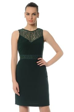 Cotton Bar Yeşil Elbise(123314645)