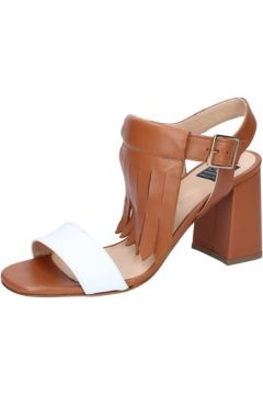 Sandales Islo sandales marron cuir blanc BZ332(88514673)