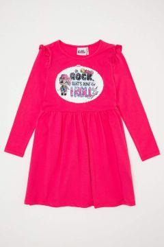 DeFacto Kız Çocuk L.O.L Lisanslı Payet İşlemeli Elbise(125929600)