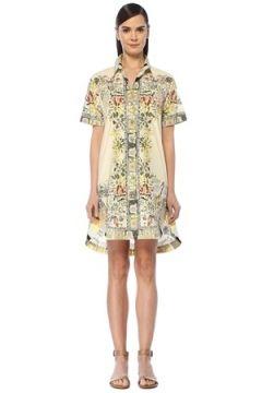 Etro Kadın Ekru Çiçekli Kısa Kol Mini Gömlek Elbise 38 IT(108515879)