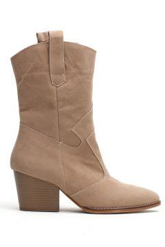 Ayakkabı Modası Vizon Süet Kadın Bot(110929339)