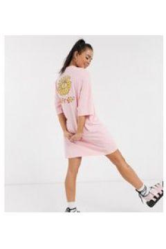 Lazy Oaf - Vestito T-shirt oversize con stampa con sole-Rosa(123214873)