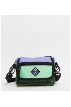 Lazy Oaf - Borsa a tracolla con patella e zip menta e lilla-Multicolore(120399271)