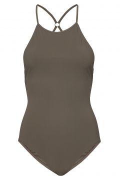 Tie-Back Swimsuit Badeanzug Bademode Grün FILIPPA K SOFT SPORT(114154506)