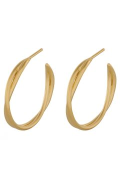 Paris Hoops 26 Mm Accessories Jewellery Earrings Hoops Gold PERNILLE CORYDON(97718547)