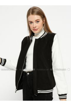 Black - White - Fully Lined - Crew neck - Puffer Jackets - Pitti Collection(110322897)