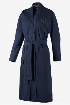 Damen Bademantel in Marine-Blau(116708255)