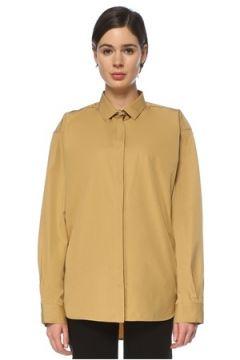Toteme Kadın Oversize Hardal İngiliz Yaka Gömlek Sarı S EU(126347885)