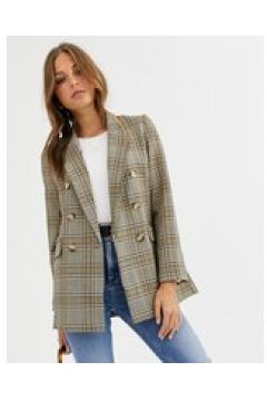 Warehouse - Blazer a quadri-Marrone(124808776)