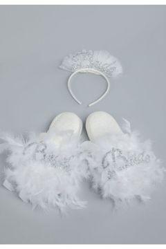 ASIMOD Kadın Bride Terlik Taç Set(123361114)