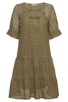 Nualzbet Ss Dress Kleid Knielang Grün NÜMPH(114164608)