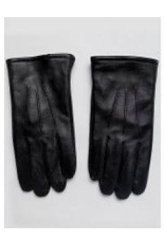 ASOS DESIGN - Schwarze Touchscreen-Handschuhe aus Leder - Schwarz(83087969)