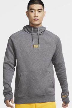 FC Barcelona Fleece Kapüşonlu Erkek Futbol Sweatshirt\'ü(118373995)