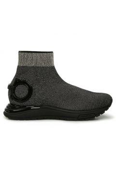 Salvatore Ferragamo Kadın Siyah Gold Simli Çorap Formlu Sneaker Altın Rengi 36 EU(127752649)