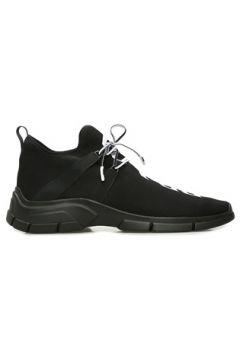 Prada Sport Erkek Siyah Çizgi Dokulu Logolu Sneaker 7.5 UK(109148705)