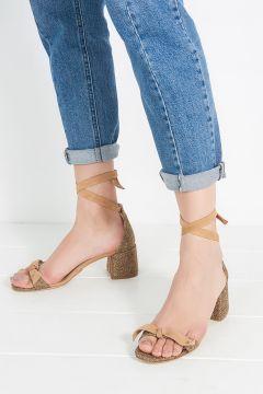 Elle Shoes Hakiki Deri Açık Kahve Kadın Topuklu Ayakkabı(110917317)