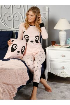 Pink - Crew neck - Multi - Pyjama - Elitol(110328424)