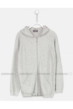 Gray - Age 8-12 Outerwear - LC WAIKIKI(110342235)