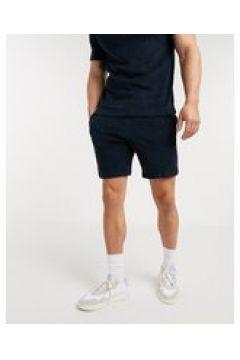 Topman - Pantaloncini in spugna blu navy in coordinato(124785197)