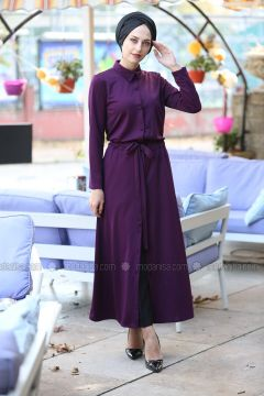 Purple - Point Collar - Unlined - Dresses - İnşirah(110319893)