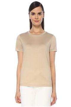 Outpost Kadın Ekru Kısa Kollu T-shirt Gri S(118330075)