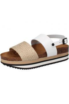 Sandales 5 Pro Ject sandales blanc cuir beige textile AC595(115394054)