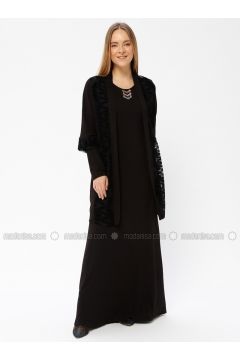Black - Fully Lined - Crew neck - Evening Suit - Le Mirage(110337477)