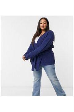 In The Style Plus x Billie Faiers - Cardigan con maniche ampie blu navy(122748838)