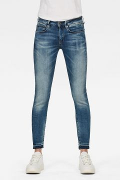G-Star RAW Women 3301 Mid Skinny Ripped Edge Ankle Jeans Medium blue(118179860)