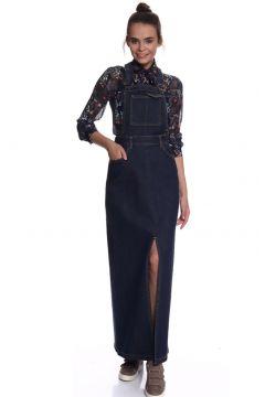 Black Pepper Yırtmaçlı Elbise(125085861)