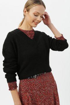 Vero Moda V Yaka Siyah Kazak(113987313)
