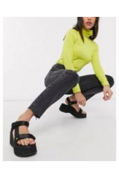 Abrand - Jeans slim anni \'94 a vita alta nero slavato(120356045)