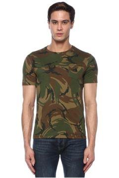 Polo Ralph Lauren Erkek Haki Kamuflaj Desenli Basic T-shirt S EU(117446579)