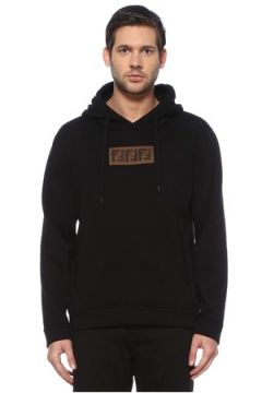Fendi Erkek Siyah Kapüşonlu Logolu Sweatshirt 52 IT(126433440)