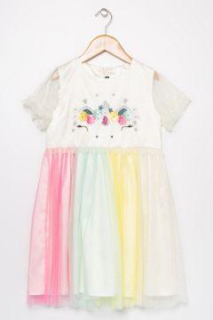 Limon Kız Çocuk Çok Renkli Elbise(121275941)