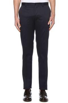 Etro Erkek Lacivert Normal Bel Dar Paça Pantolon 48 IT(127545872)