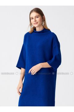Saxe - Polo neck - Unlined -- Dresses - Dilvin(110327541)